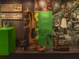 foto van een expositie over de geschiedenis van het Westland in het Westlands Museum in het Westland