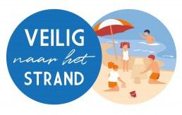 logo van de Westlandse campagne 'Veilig naar het strand' van de gezamenlijke reddingsbrigades van 's Gravenzande en Monster